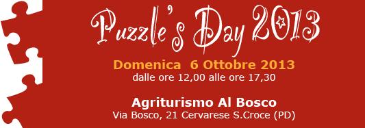 Domenica 6 ottobre è Puzzle's Day 2013!